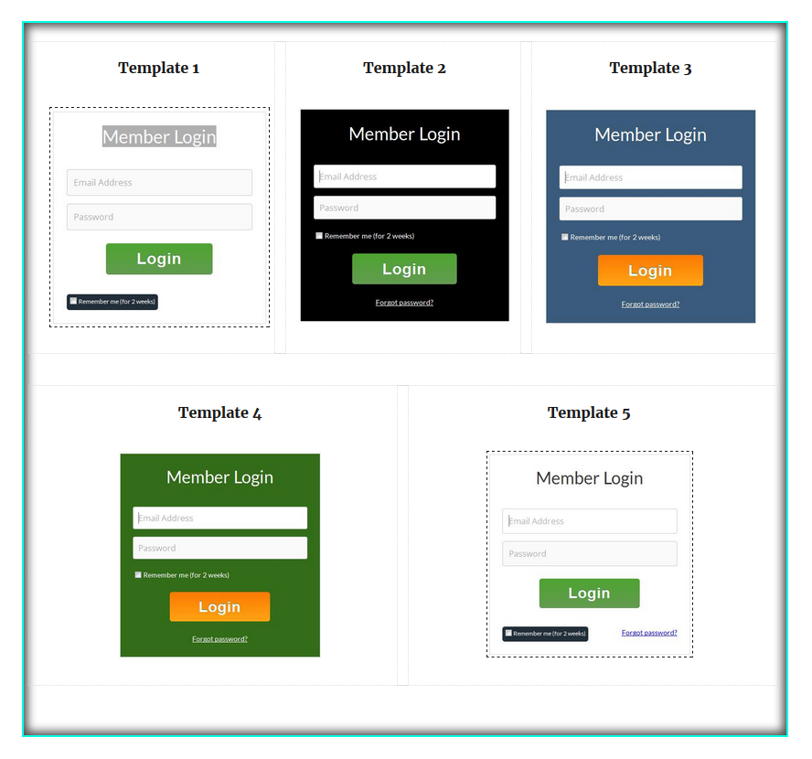 how to setup your member login page