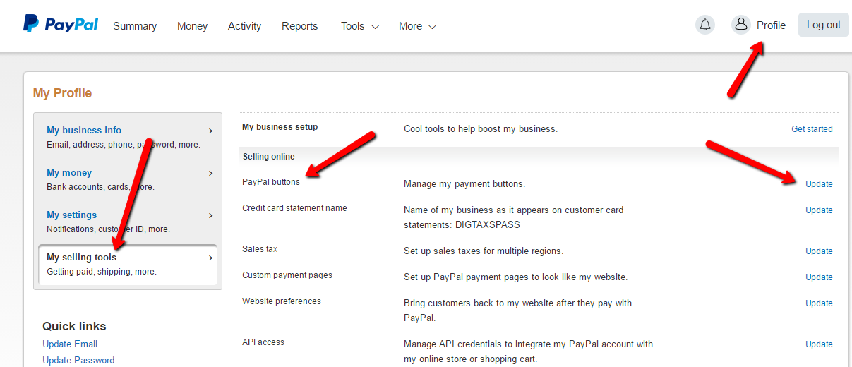 Paypal Hosted Buy Buttons – DAP Documentation
